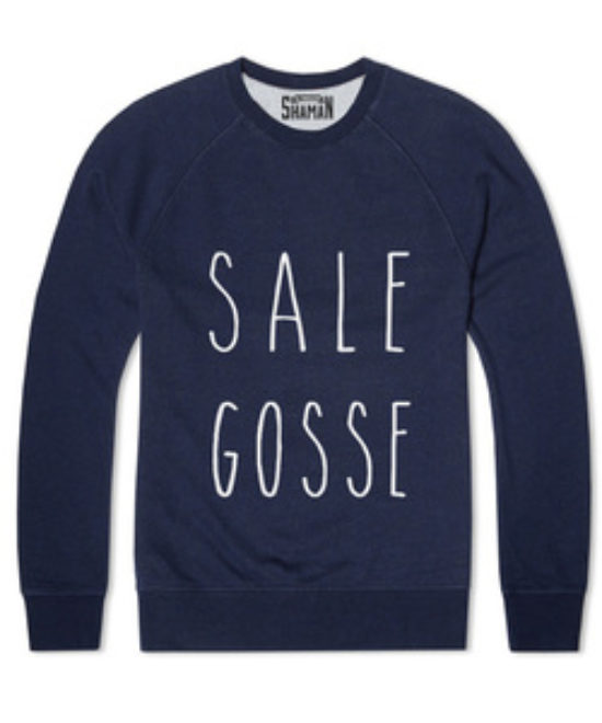 Sweat bleu Sale gosse