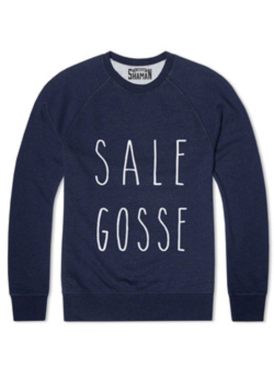 "Sweat-shirt SHAMAN ""Sale gosse"" bleu"