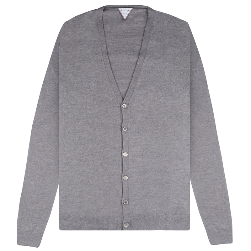 Pull Six & Sept Cardigan Gris Clair