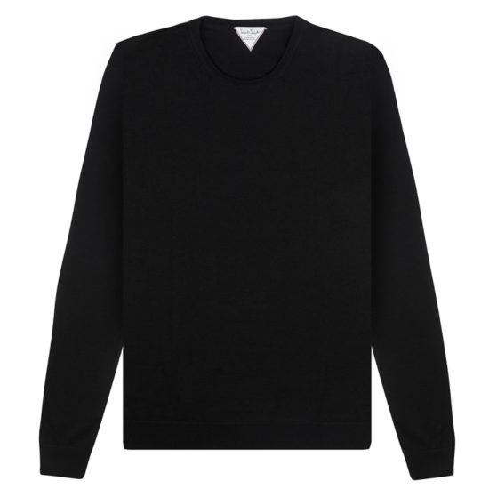 Pull Six & Sept Col Rond Noir