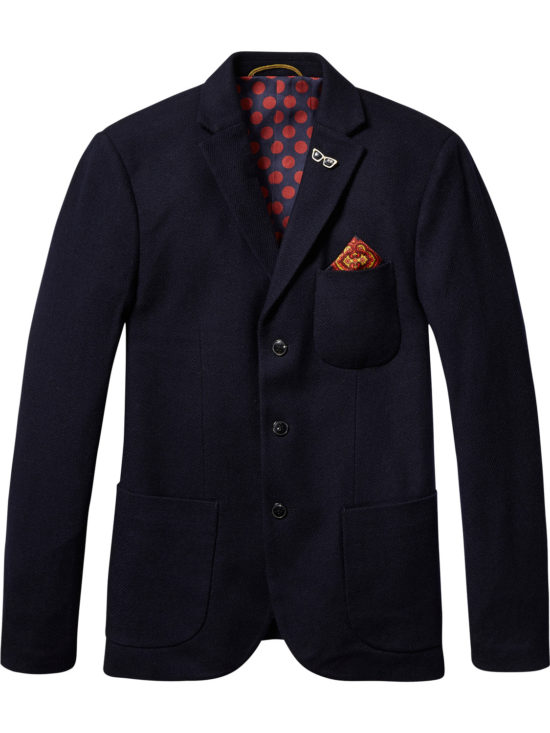 Blazer Scotch&Soda en Tweed Bleu