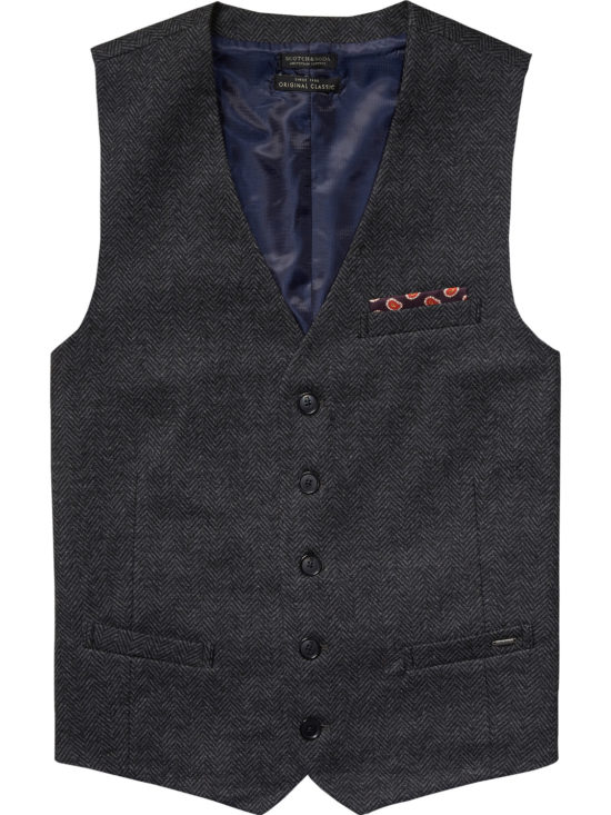 Gilet Scotch&Soda en Tweed Gris