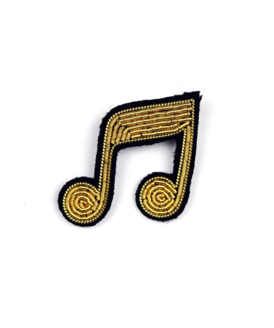 """Broche """"double note"""" or"""