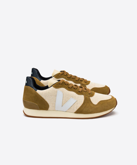 Sneakers holiday low top jute camel white