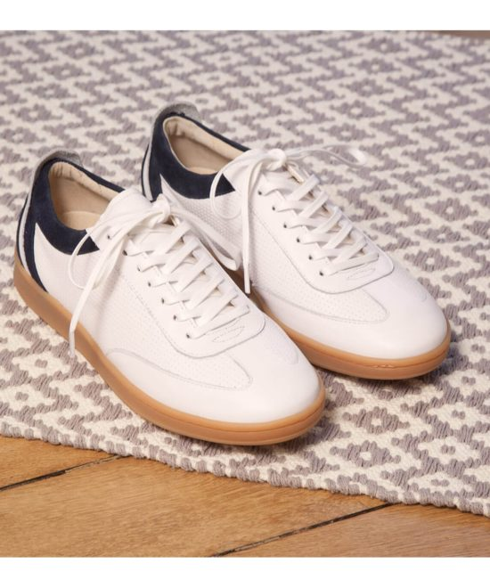 Sneakers blanches et marine Roger