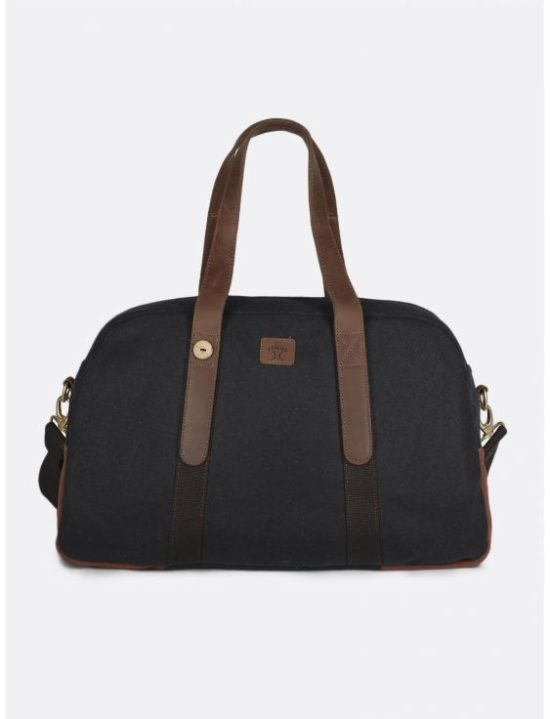 Sac de weekend marine & brique en laine Faguo