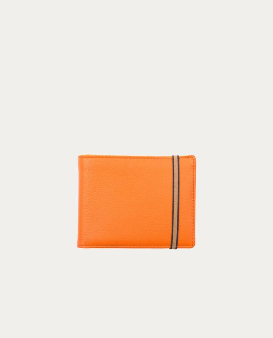 Portefeuille / Porte-Monnaie Cuir Orange Carré Royal