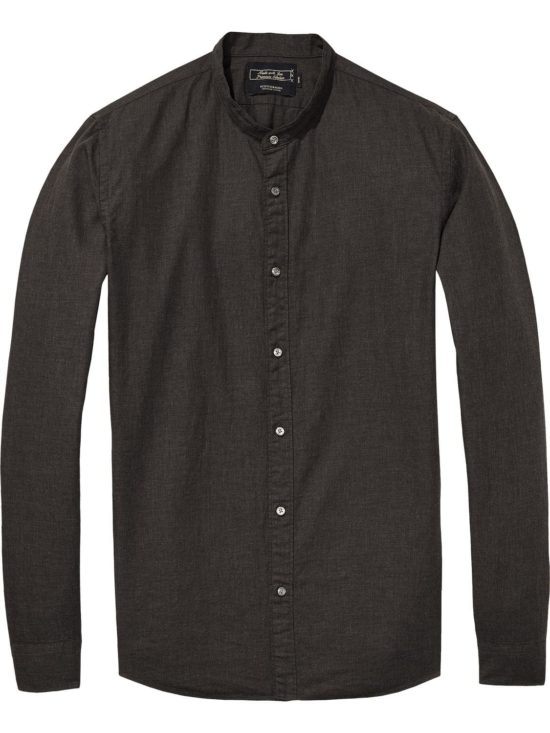 Chemise anthracite sans col Scotch & Soda