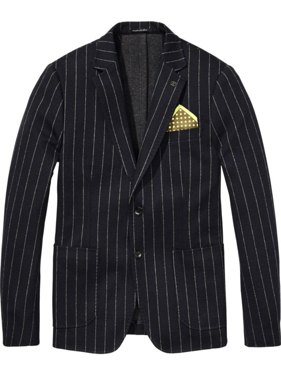 Blazer Tennis noir à fines rayures blanches Scotch & Soda
