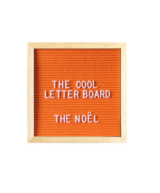 Letter Board The Cool Company Orange, petit format