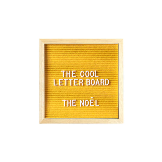 Letter Board The Cool Company Jaune, petit format