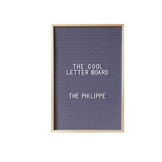 Letter Board The Cool Company Gris, moyen format