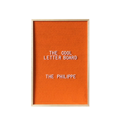 Letter Board The Cool Company Orange, moyen format