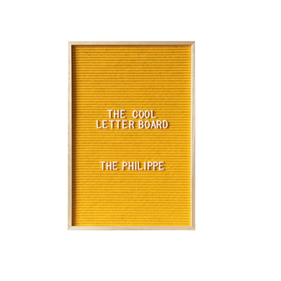 Letter Board The Cool Company jaune, moyen format