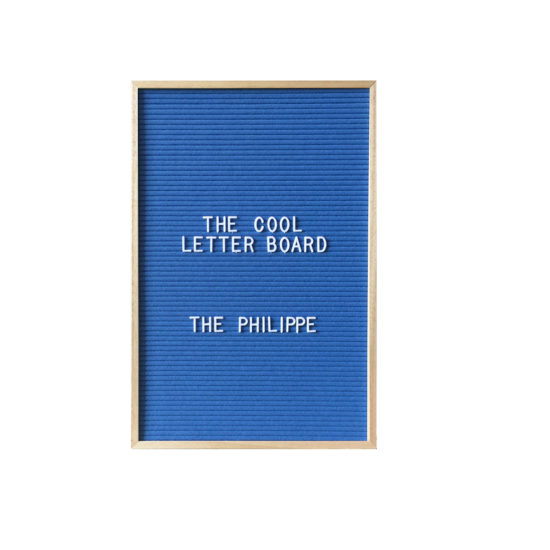 Letter Board The Cool Company Bleu, moyen format