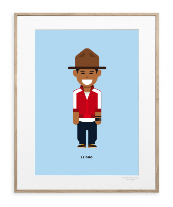 "Affiche ""Pharrell Williams"" Le Duo 40X50"