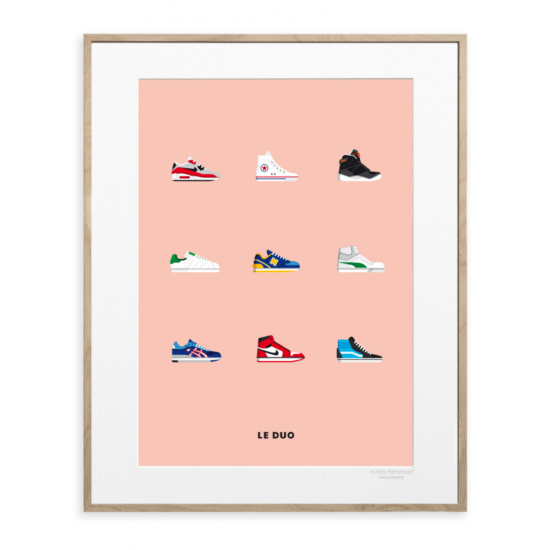 "Affiche Image Republic Le Duo ""Sneakers"" 40X50"