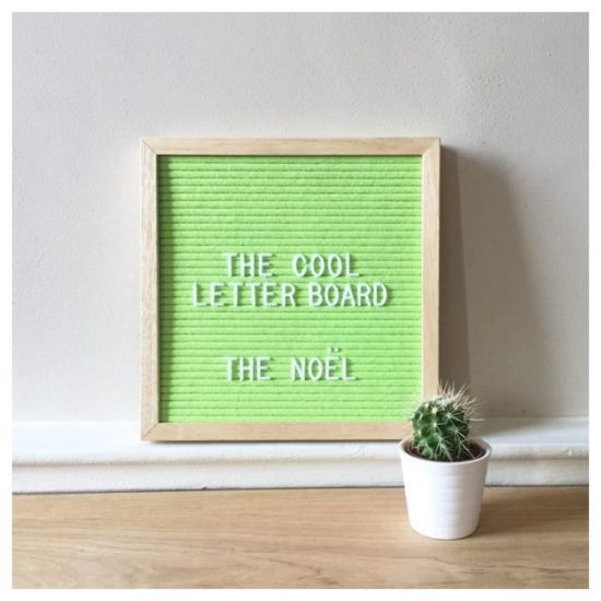 Letter Board The Cool Company vert pomme, petit format