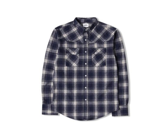 Chemise à carreaux bleue en flannel Scotch & Soda