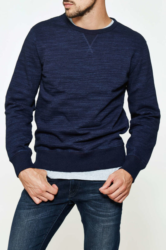 Sweat Shirt en coton indigo Edwin