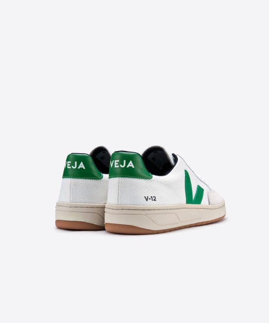 Sneakers V-12 blanches & vertes
