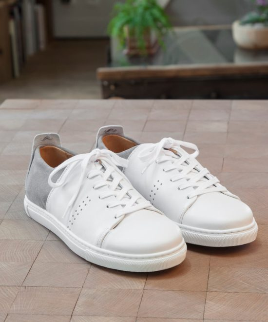 Sneakers blanches et grises
