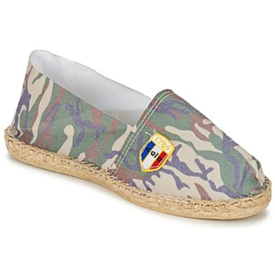 Espadrilles en toile camouflage made in France Cala1789