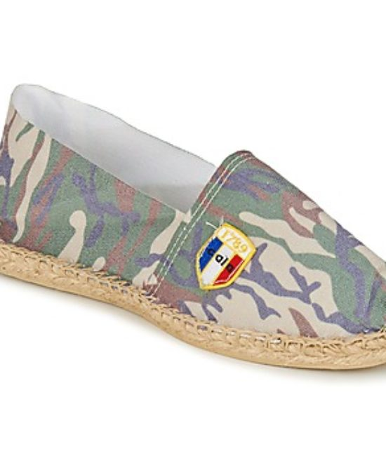 Espadrilles en toile camouflage made in France
