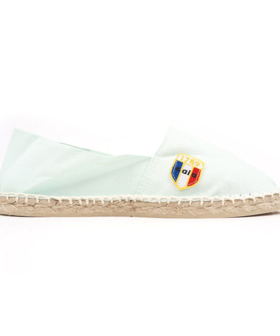 Espadrilles en toile acqua made in France
