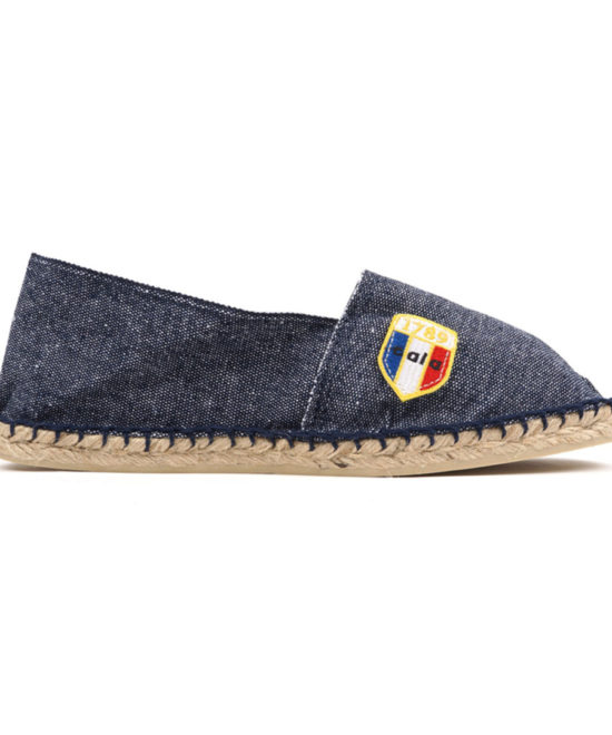 Espadrilles en toile bleu jean made in France