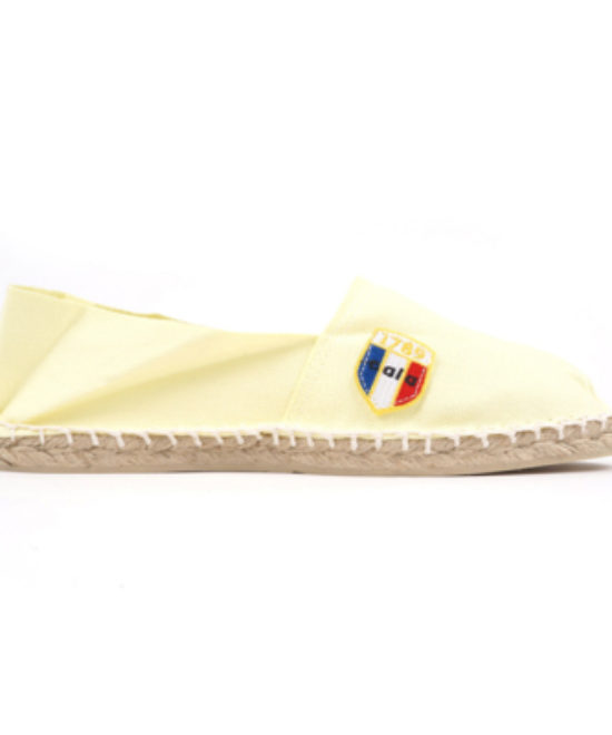 Espadrilles en toile jaune clair made in France