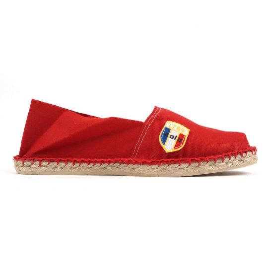 Espadrilles en toile rouge made in France Cala1789