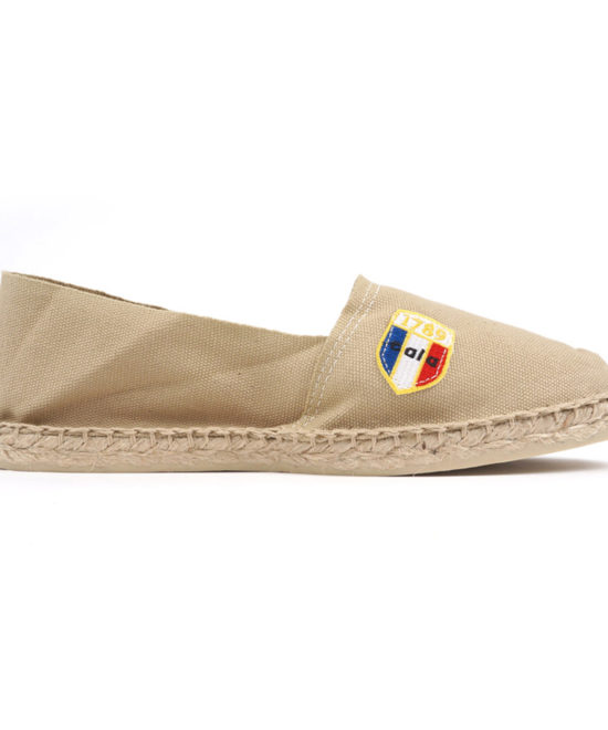 Espadrilles en toile sable made in France