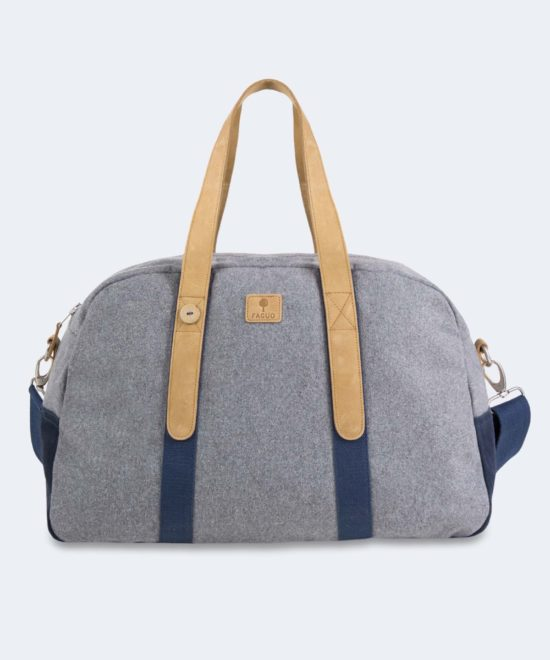 Sac de week-end gris clair