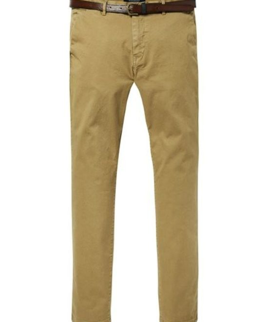 Chino beige/moutarde