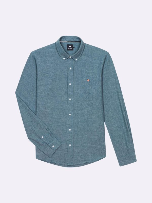 Chemise Onca bleu clair chambray Faguo FW19