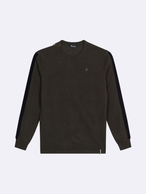 Pull Col Rond Kaki Marly FW19