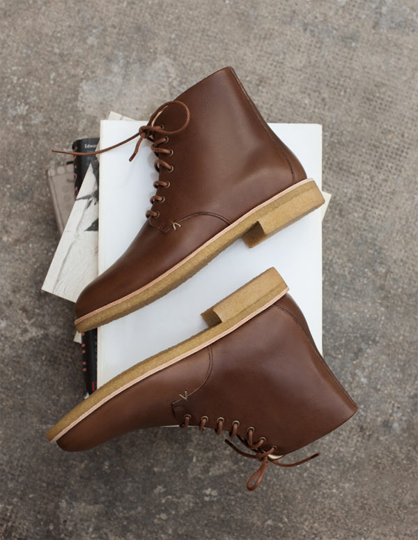 Shoes Hubert M. Moustache Brown Leather Fall 2019