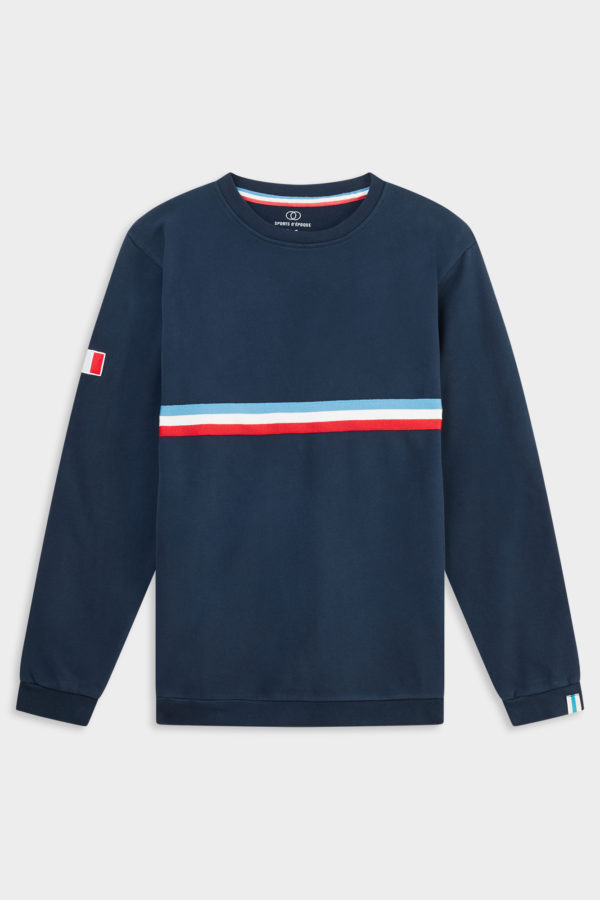 Sweat-Shirt France Rugby Bleu Sport D'Epoque FW19