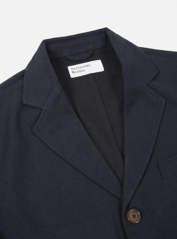 jacket in wool navy casual universal works winter 19 for a mon image
