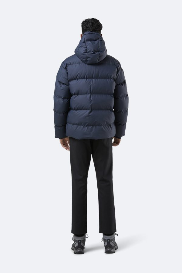 puffer winter jacket navy blue rains at a mon image paris