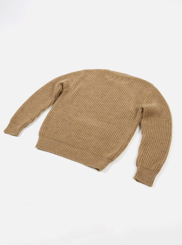 pull crew neck in sand alpaca wool universal works winter 19 a mon image