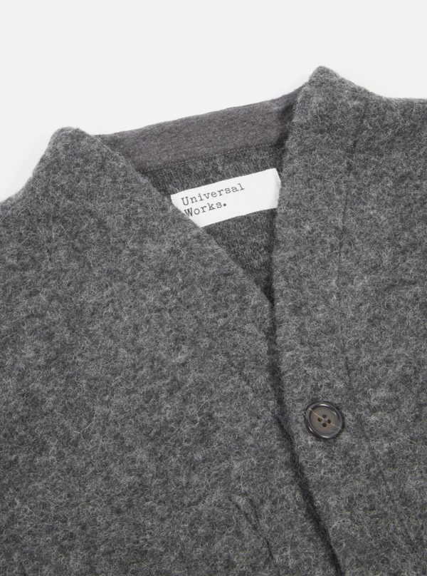 pull gris cardigan laine AH19 universal works