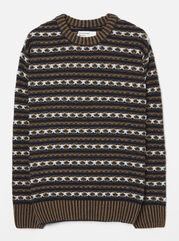 pull jacquard col rond universal works hiver 19