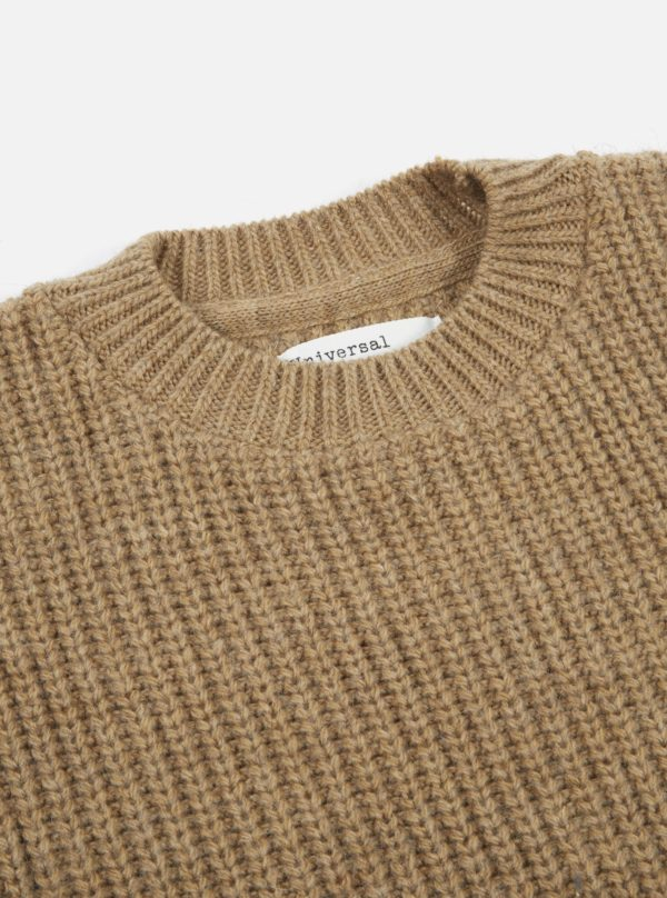 pull laine col rond grosse maille universal works ah19 a mon image