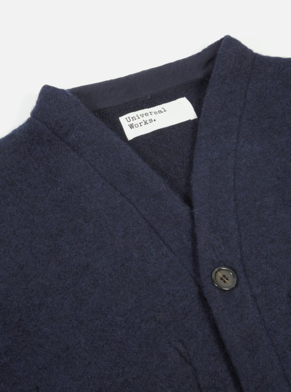 sweater navy button wool FW19