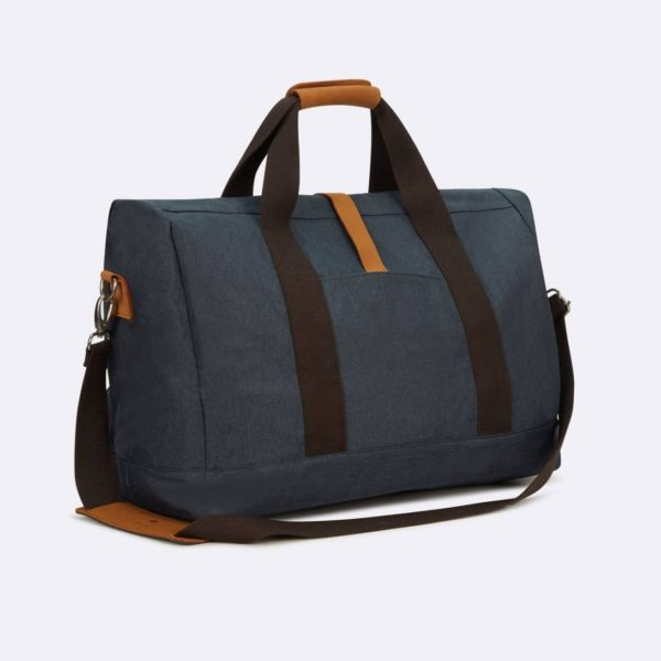 weekend bag in blue navy cotton fw19 faguo for amonimageparis.com