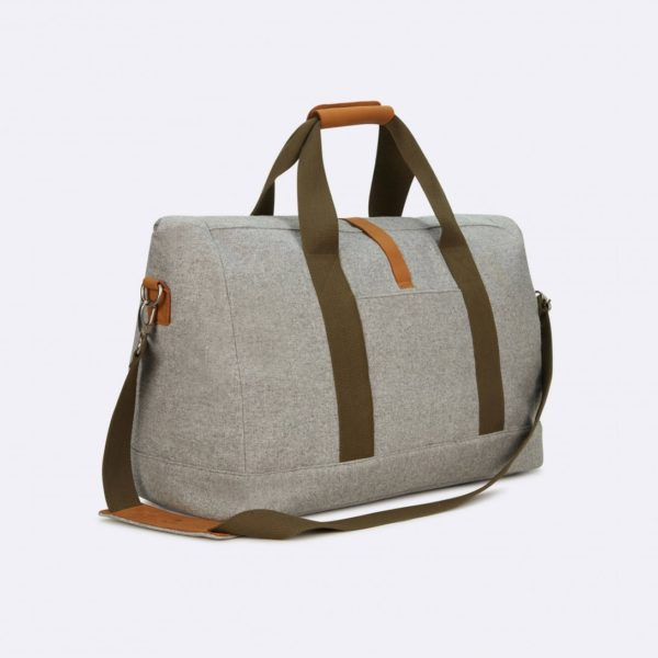 weekender folded bag in grey wool faguo winter 19 for a mon image paris