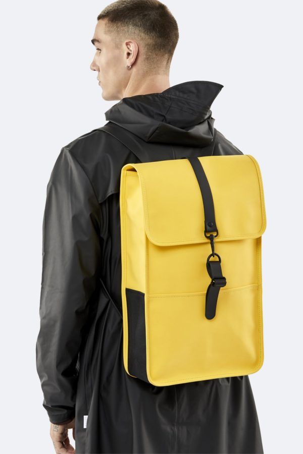 backpack bag yellow Rains SS20 for A Mon Image Paris 75009
