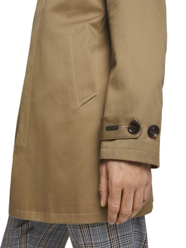 spring trench-coat classic style in sand cotton s&s SS2020